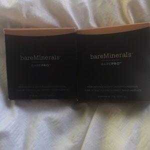 2 Bare Minerals Bare Pro Foundations